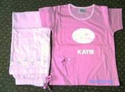Girls Pyjamas. Age 5/6 yrs. Personalised 'KATIE'