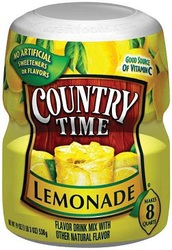 Country Time Lemonade Tub 538g (8 Quarts) (Box of 12) | Branded Americ