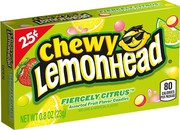 Lemonhead Chewy Fiercely Citrus $0.25 Box 23g (0.8oz) (Box of 24)