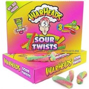 Warheads Sour Twists Theatre Box 99g (3.5oz) (Box of 12)