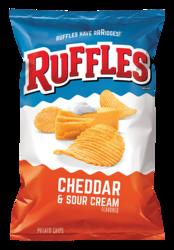 Frito Lays Ruffles Cheddar & Sour Cream (1.5oz) 42.52g (Box of 64)